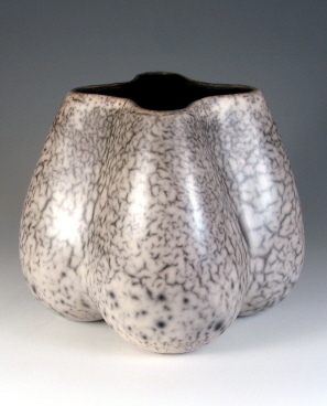 White terre sigillée, Raku, Height 28 cm - 56.6 ko